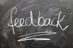 A feedback sign - because it is important to get feedback on moving companies.