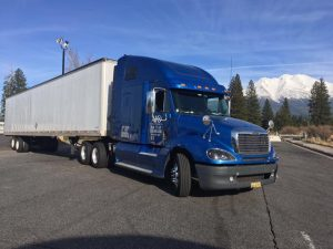 Blue truck all ready and set for your move to Ridgefield Park.