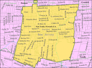Map of Bergenfield - one that our Bergenfield movers NJ know by heart.