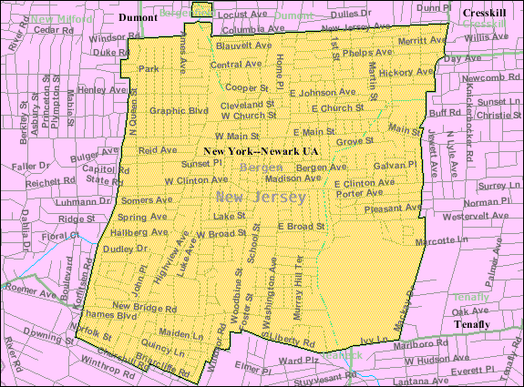 Census Bureau map of Bergenfield New Jersey 300x222 - Local Movers in Bergenfield, NJ
