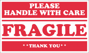 Pack fragile items - labeling