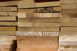 A stack of planks.